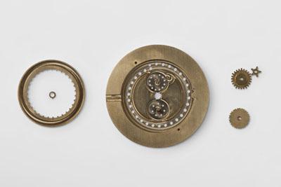 Based on an ETA movement, the Ochs und Junior annual calendar watch operates with just three additional planetary gears.