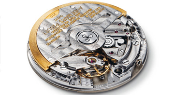 In an automatic movement, such as this caliber from Audemars Piguet, the moveemnt of the wearer's wrist automatically   winds the rotor and stores the power.