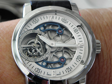 The Armin Strom Tourbillon is made in house at the brand's Biel Manufacture. This version is the Water model.
