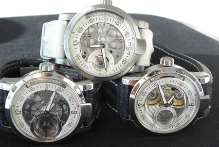 Three top Armin Strom models, worn by US writers during the 2013 Formula 1 United States Grand Prix in Austin.