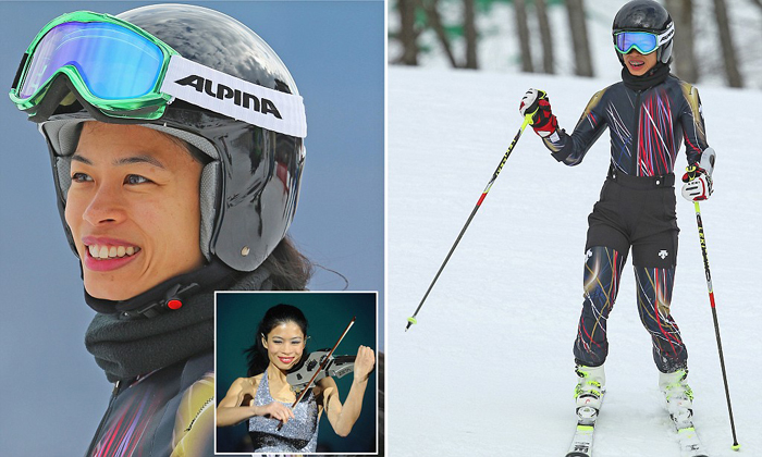Olympic skier Vanessa-Mae  is also a concert violinist. Photo courtesy of Fox News  (Photo by Clive Rose/Getty Images)