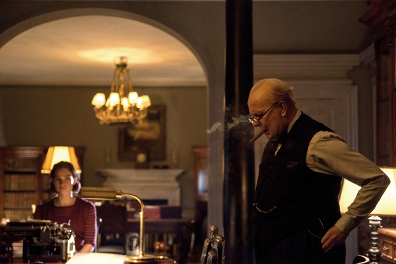Gary Oldman played Winston Churchill in the Darkest Hour, wearing a Breguet pocket watch that was re-created for the movie.