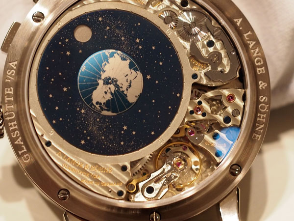 Like all A. Lange &Sohne calibers, every piece of the movement is exquisitely finished.