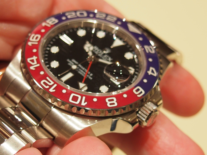 "For obvious reasons, the press dubbed the Rolex Oyster Perpetual GMT Master II watch the ""Pepsi."""