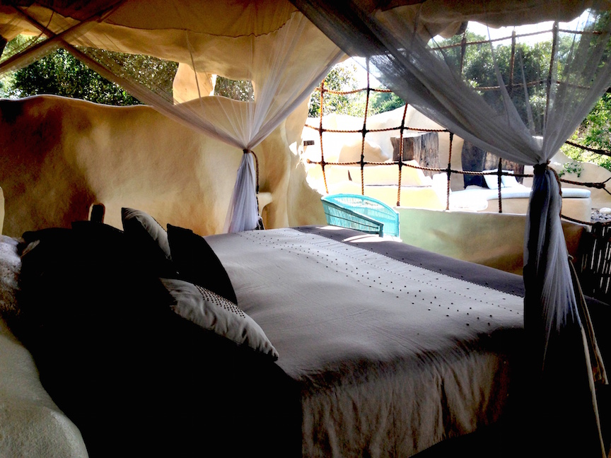 My bedroom in the Chongwe River House
