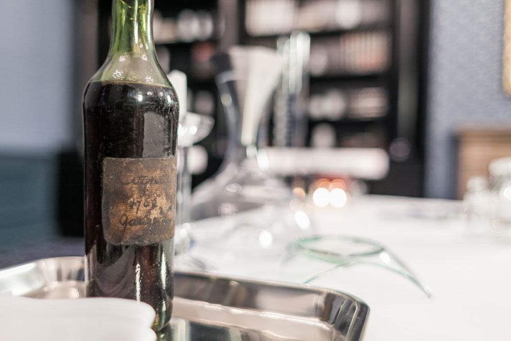 The original bottle of 1762 Gaultier Cognac