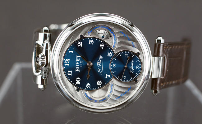Bovet 19Thirty offers a variety of dial colors with stunning hand finishing and guilloche work