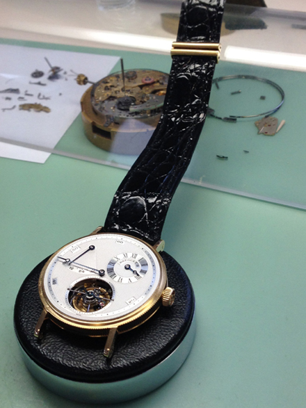 Specialty pieces are assembled by one watchmaker from start to finish.