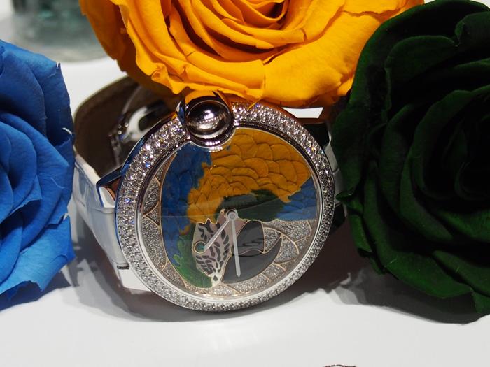 New Cartier Parrot watch features a dial made of flower petals.