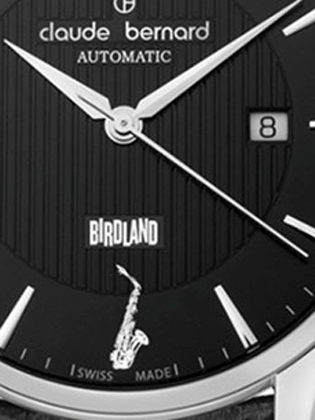 The Birdland logo and Parker's alto saxophone are on the dial.