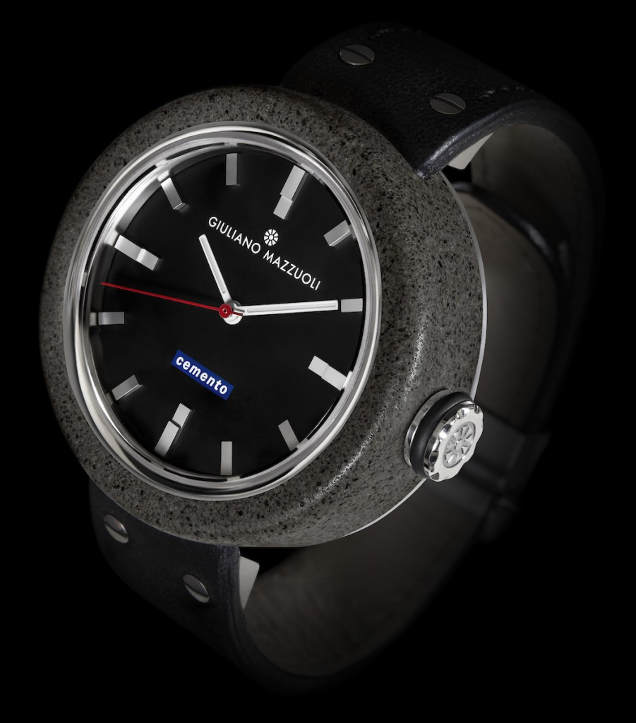 The Swiss-Made watch is powered by an ETA movement