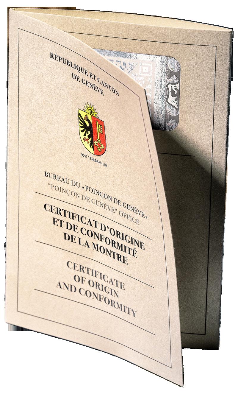 Poincon de Geneve Certificate