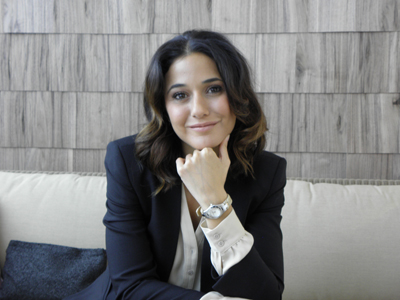 Emmanuelle Chriqui at Baume & Mercier, SIHH 2013