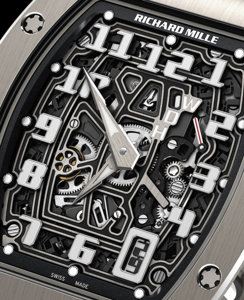RM67-01 features a free-sprung balance wheel with variable inertia