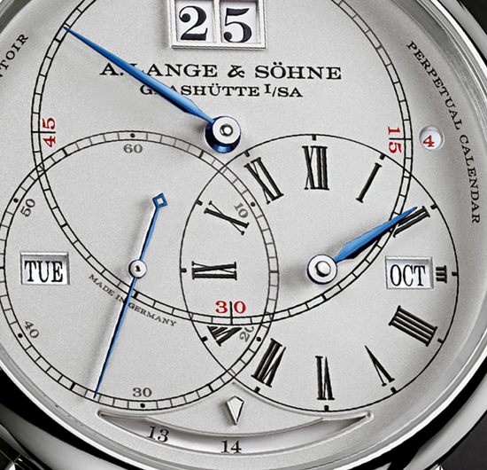 The  watch offers 14 days of power reserve thanks to twin barrels, and has a constant force escapement.