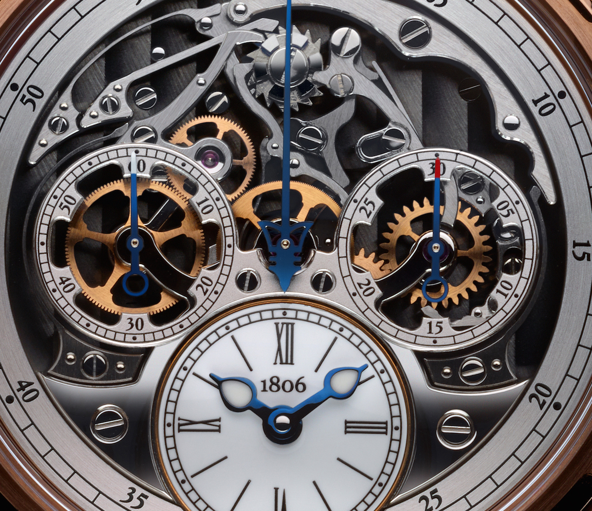 A close-up view demonstrates the intricacy of the movement