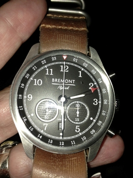 The Bremont Codebreaker houses a Flyback chronograph GMT movement