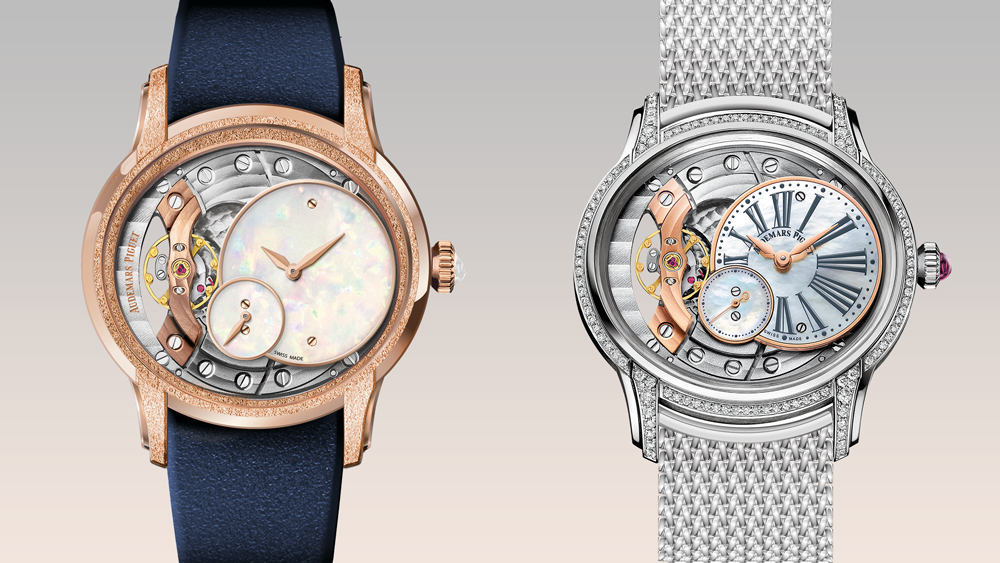 New Audemars PIguet Millenary watches, seen for the first time in the USA during Watches & Wonders Miami.