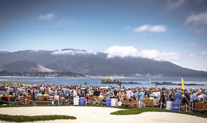 Ambiance on the famed 18th hole of Pebble Beach