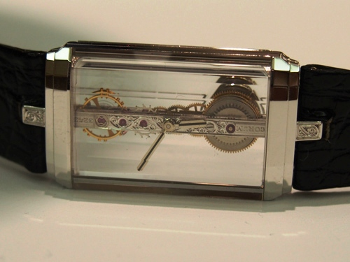 Corum Golden Bridge watch, designed and patented in the late 1970s by Vincent Calabrese.