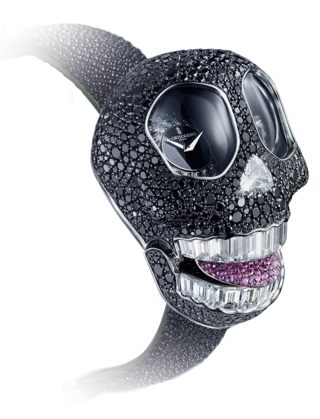 DeGrisogono Crazy Black Skull