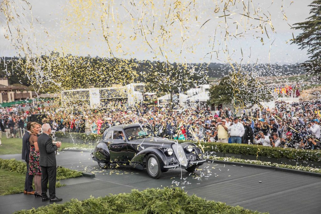 Rolex Best of Show Recipient at the Pebble Beach Concours d'Elegance Italian Classic J4-7 1937 Alfa Romero 8C 2900B Touring Berlinetta, David & Ginny Sydorick, Beverly Hills, California