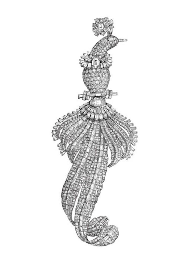 Cartier Diamond Brooch