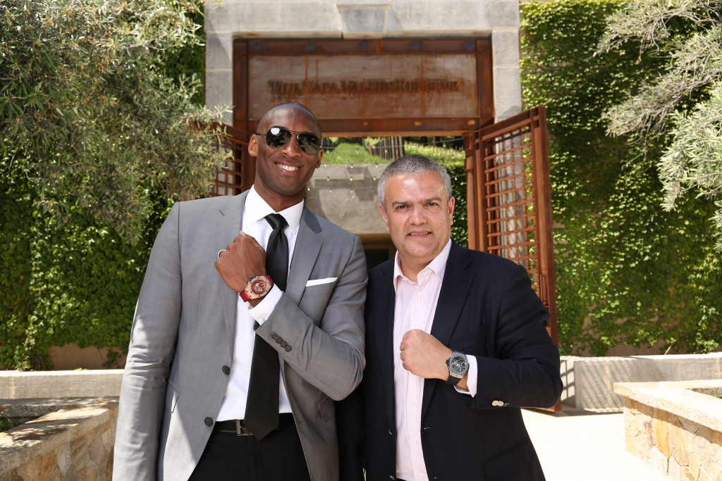 Kobe Bryant with Ricardo Guadalupe of Hublot