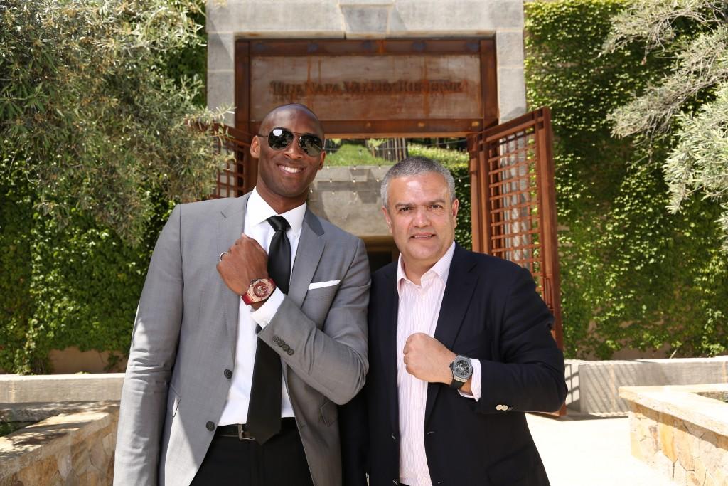 Kobe Bryant with Ricardo Guadalupe of Hublot