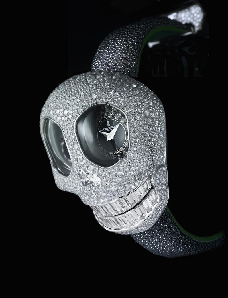 de Grisogono Jeweled Skull Watch