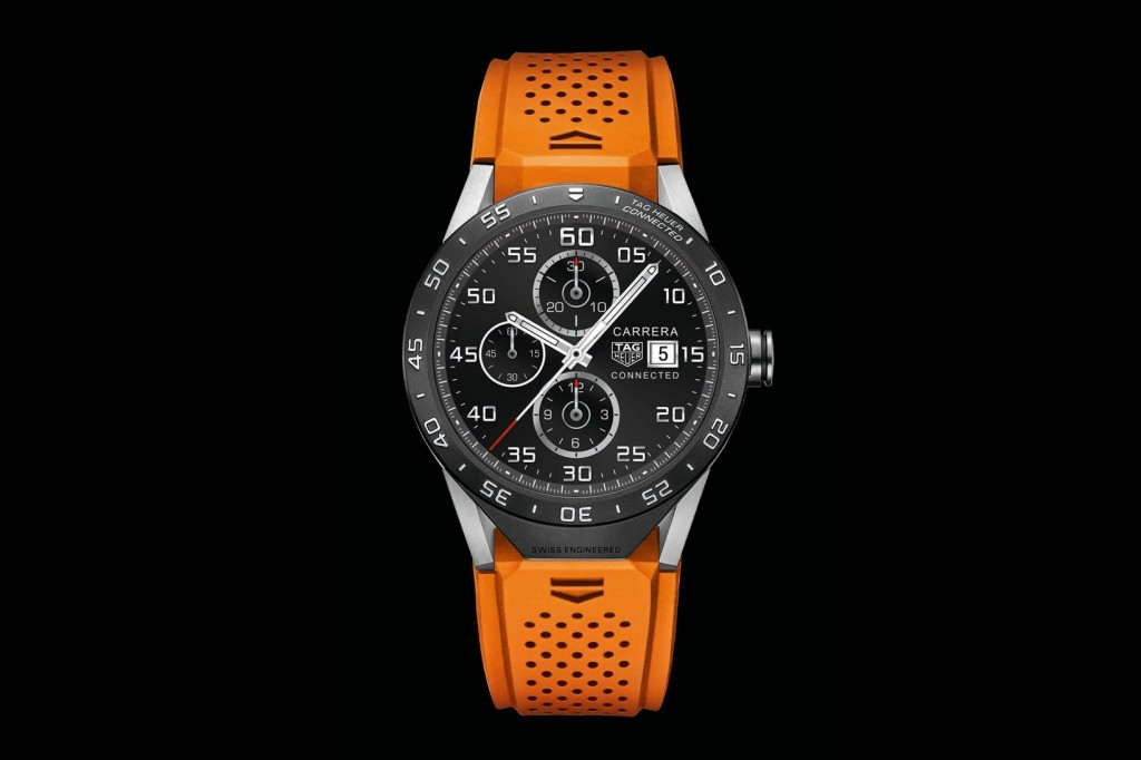 IN two years, the owner can trade in the TAG Heuer Connected watch to an authorized retailer, add $1,500 to it and get a mechanical Carrera