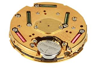 battery-powered quartz watch movement