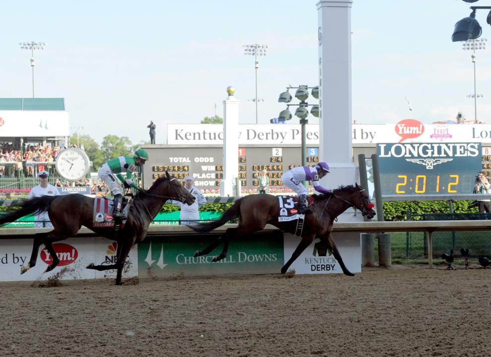 Longines, Official Timekeeper of the Kentucky Derby, times the big win by Nyquist