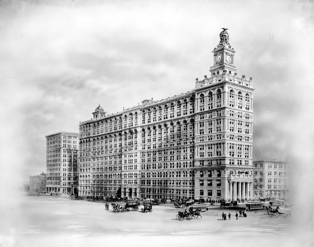 Historic image of the building, provided by Vinit Parmar and Hodinkee.