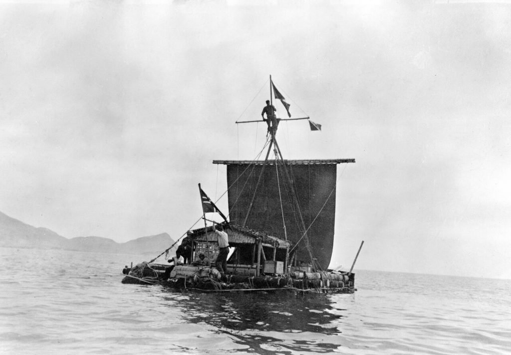 The Kon Tiki expedition took place in 1947, and the explorers wore Eterna watches.