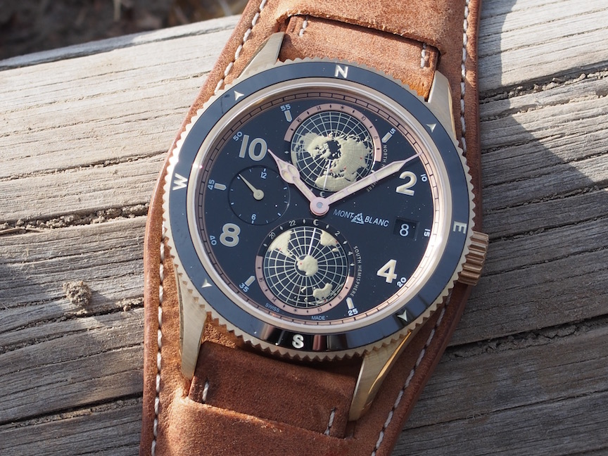 Just 1600 pieces of the Montblanc 1858 Geosphere watch in bronze will be made
