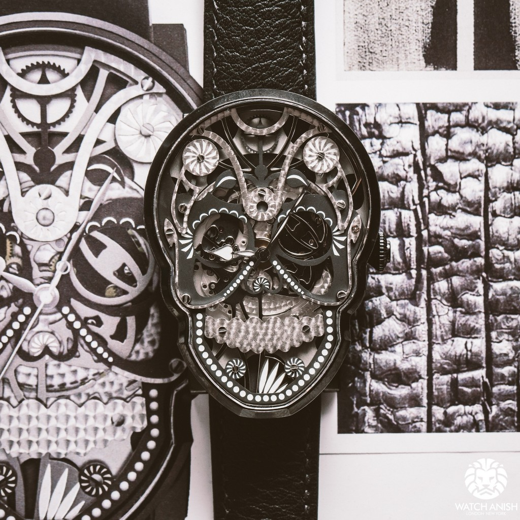 Fiona Kruger black skull (photo courtesy WatchAnish)