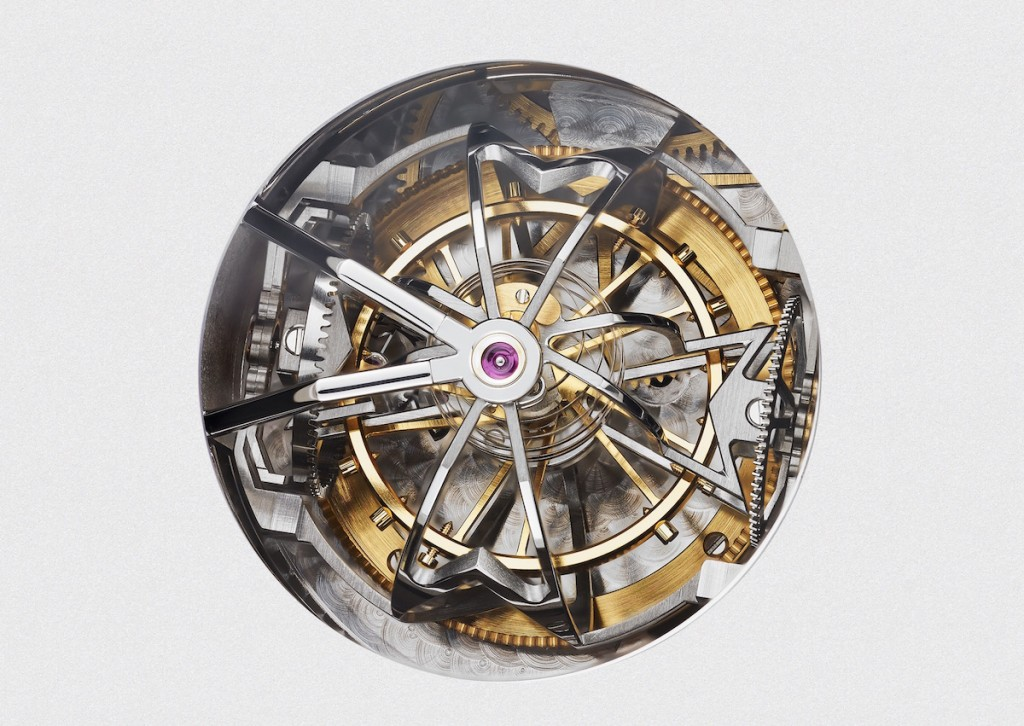 Armillary spherical triple axis tourbillon