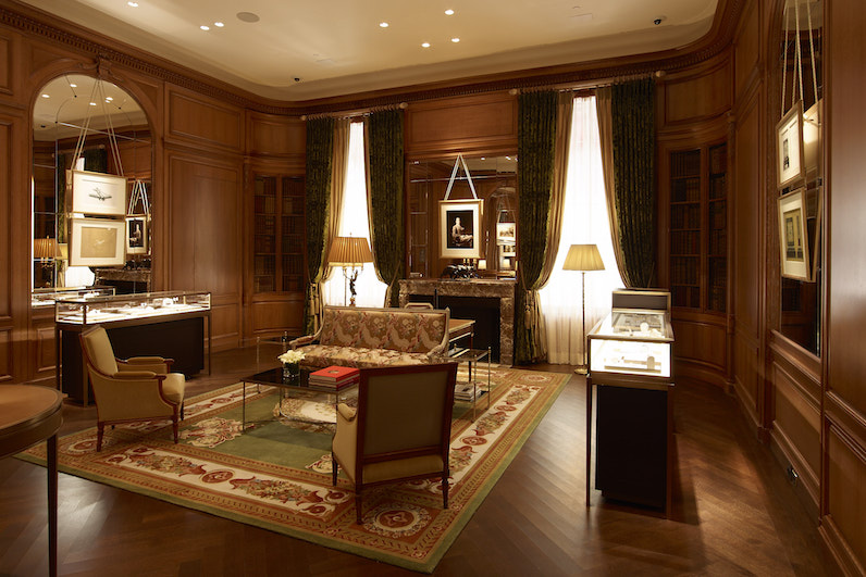 The French NeoClassic Salon at the newly appointed Cartier Mansion