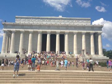 The impressive Lincoln Memorial