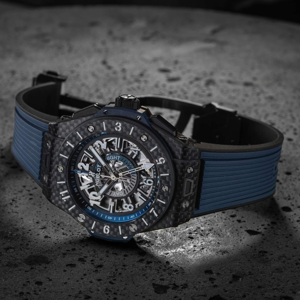 Hublot Big Bang Unico GMT Carbon watch is one of the final pre-selected Travel Time watches for GPHG 2017.