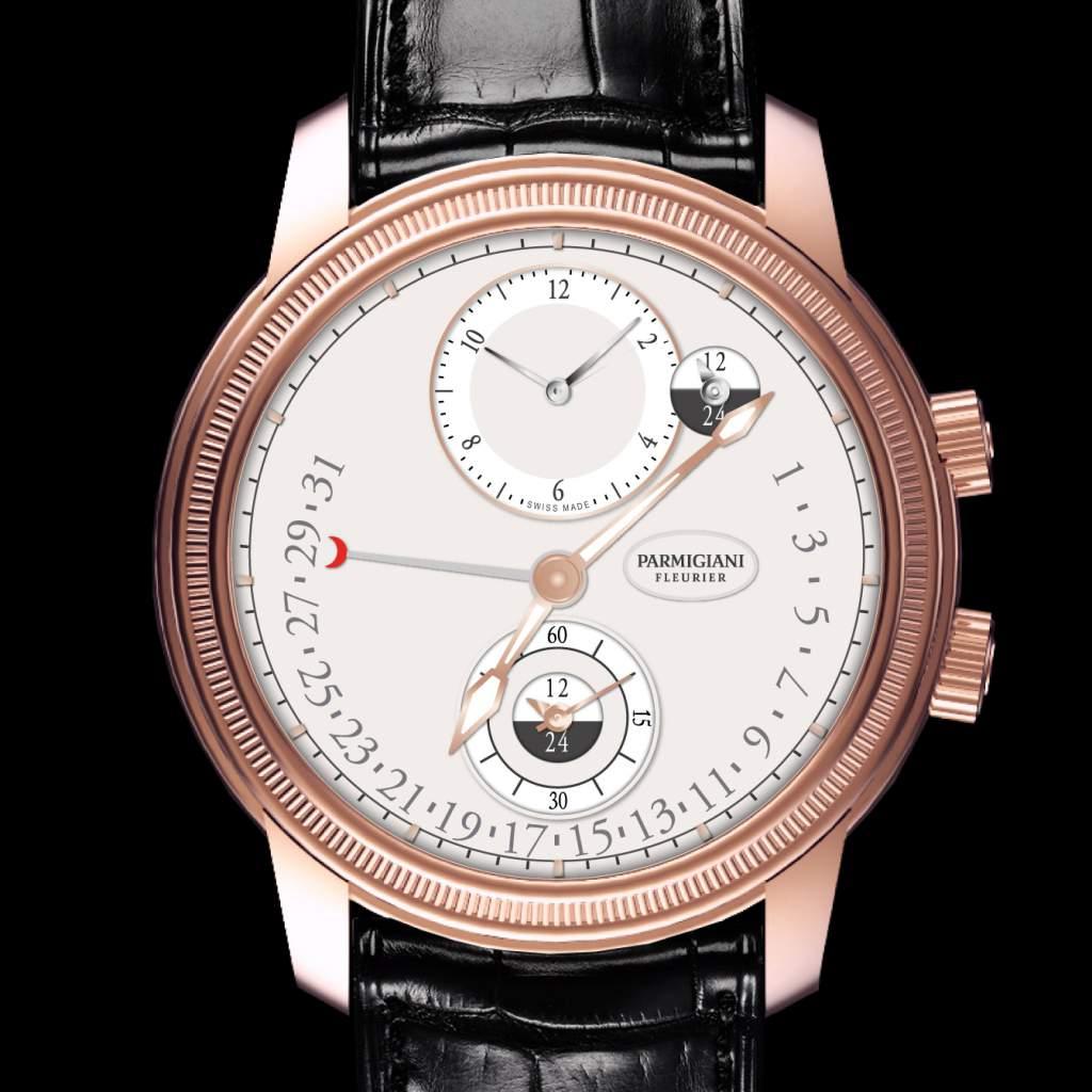 The Parmigiani Fleurier Toric Hemispheres Retrograde watch for GPHG Travel-Time category.
