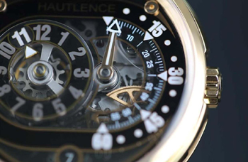 The dial of the new watch is made of multi-layered sapphire