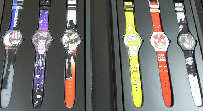 The Swatch Hiroyuki Matsuura was sold as a set of six.