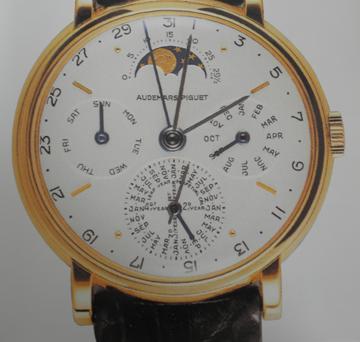 An early Audemars Piguet calendar wrist watch.