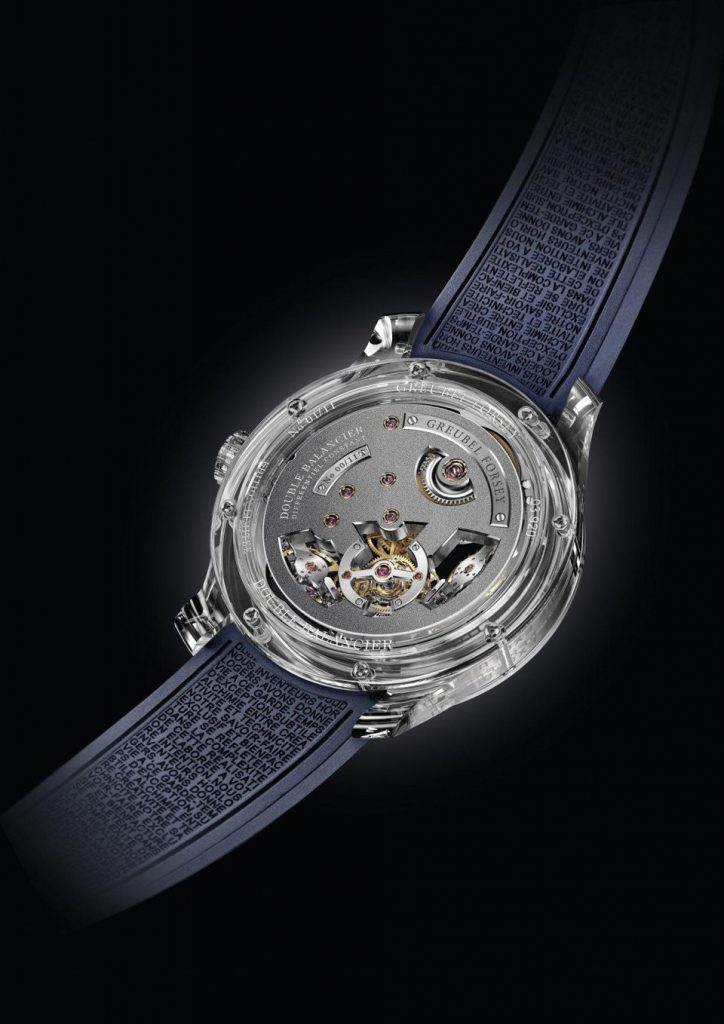 Greubel Forsey Double Balancier Sapphire watch caseback.