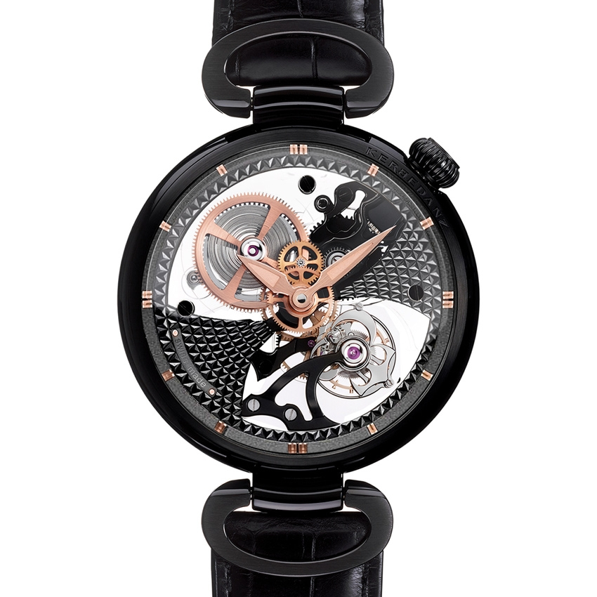 Black watches get their color from a variety of processes, including DLC, PVD and ceramic or alloys made in black.