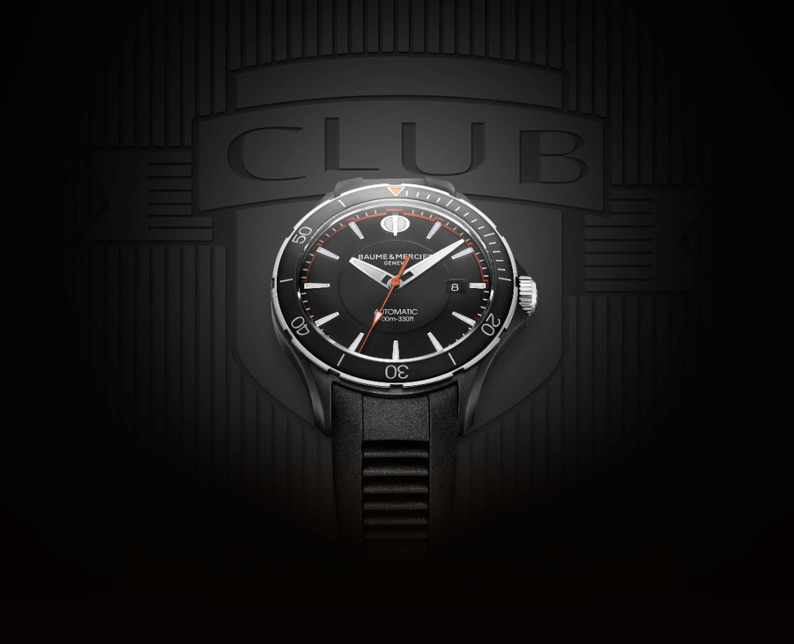 The all black ADLC version of the new Baume & Mercier Clifton Club collection.