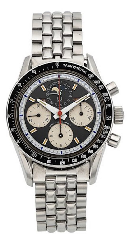 Universal Geneva Steel Tri-Compax, circa 1960, up for bids at Heritage Auction.