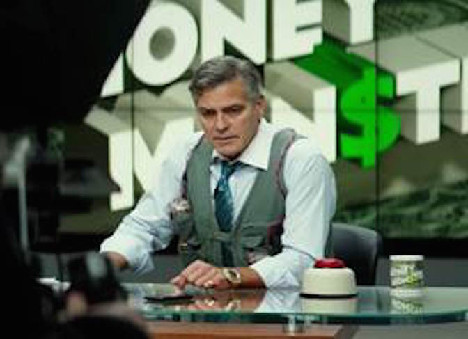 Actor George Clooney wears Omega Speedmaster Moonwatch in Money Monster